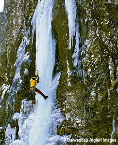 Photographs - Ice climbing