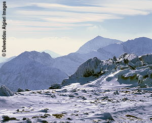 Photographs - Snowdon from Glyder Fawr