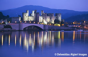 Photographs - Conwy Castle at night