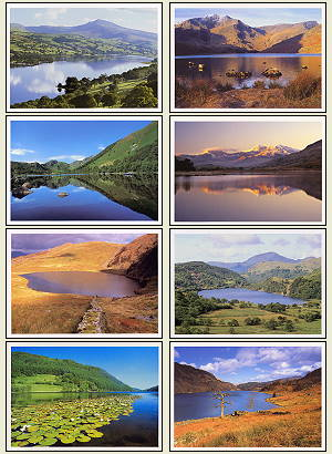 Other Cards and Notepads - Lakes of North Wales (pack of 8 cards)