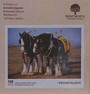 Midi Wooden Jigsaws - Shire Horses