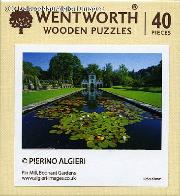 Micro Wooden Jigsaws - Bodnant Garden  Pin Mill