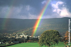 Photographs - rainbow over Trefriw