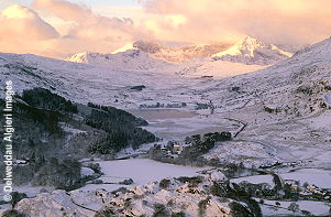 Photographs - Snowclad Snowdon at Dawn