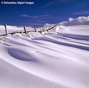 Photographs - Snowdrift near Nebo Conwy Valley