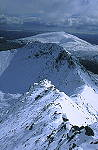Crib Goch ridge in winter - click here for more info